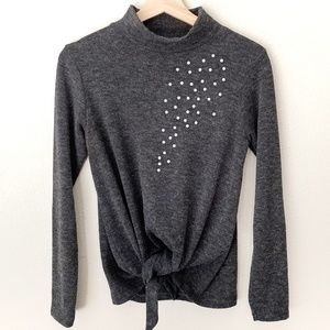 Zara W&B Collection Pearl Embellished Sweater -S